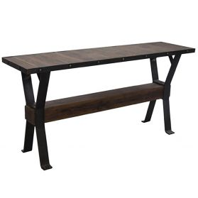 "Industrial Teak 66"" Reclaimed Wood Console"