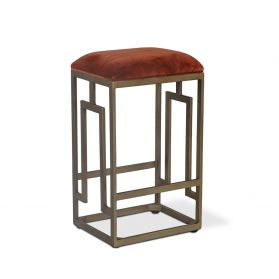 Michelangelo Velvet and Iron Stool