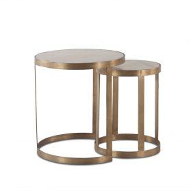 Michaelangelo White Marble Nesting Side Table