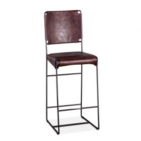 New York Bar Chair Chocolate Leather