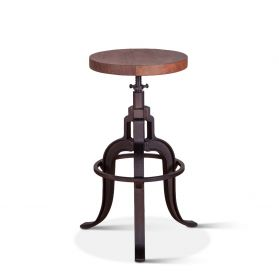Organic Forge Raw Walnut Adjusting Stool