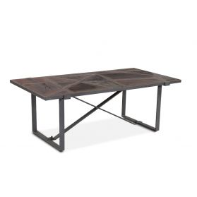 "Old Mill 52"" Geometric Coffee Table"