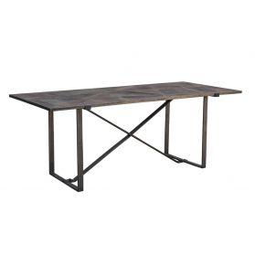 "Old Mill 78"" Geometric Dining Table"