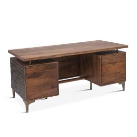 "Santa Cruz Office Desk 66"" Two-Toned"