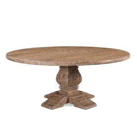 "San Rafael 72"" Round Dining Table Antique Oak"