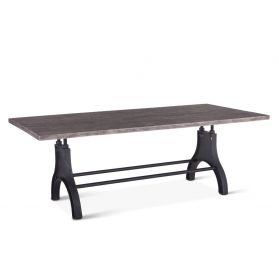 "Steel City Dining Table 84"" Weathered Gray"
