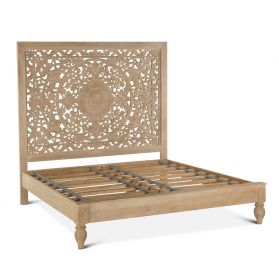 Taj King Bed Whitewash