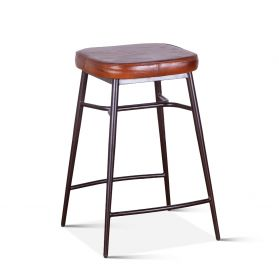 Wellington Leather Counter Stool