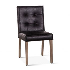 Madison Side Chair Black Leather