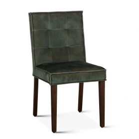 Madison Side Chair Weathered Green Velvet