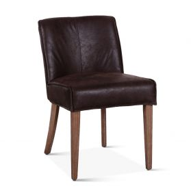 Buddy Side Chair Dark Brown Leather