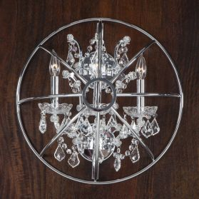 Highlight Crystal Globe Wall Sconce