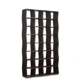 "Library 89"" Bookshelf Antique Black"
