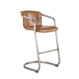 Portofino Leather Bar Chair Berham Chestnut