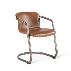 Portofino Leather Dining Chair Berham Chestnut