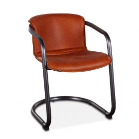 Portofino Leather Dining Chair Aperol Spritz