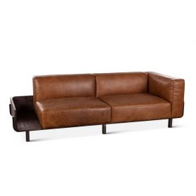 Portofino Leather 3-Seater Tan Sofa