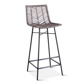 Kubu Bar Chair Gray Whitewash