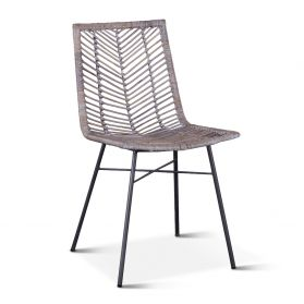 Kubu Dining Chair Gray Whitewash
