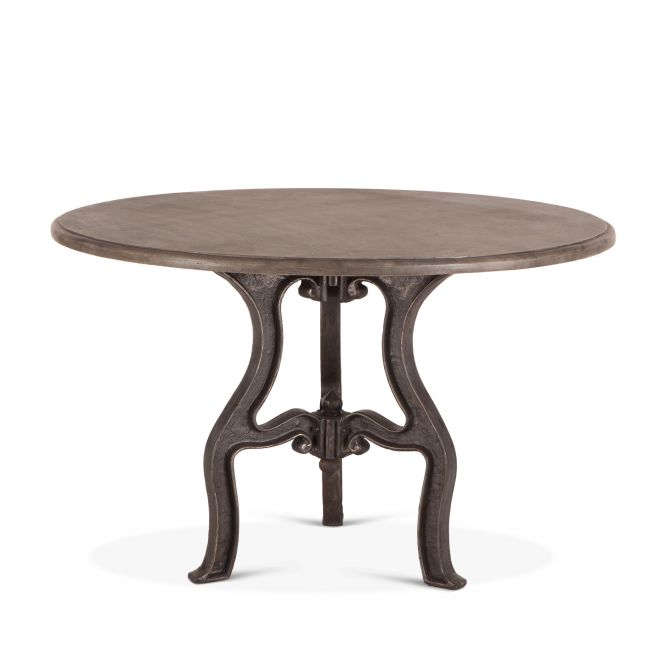 French Vintage 48 Round Dining With, 48 Round Marble Table Top